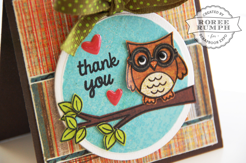roree rumph_stamped_paper pieced_thank you_card_closeup