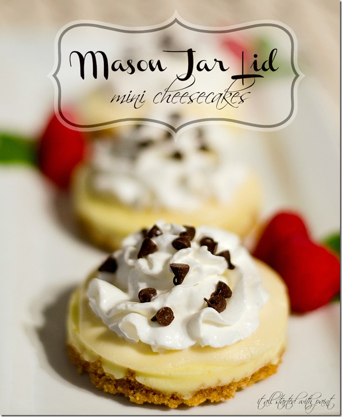 Mason Jar Lids Mini Cheesecake