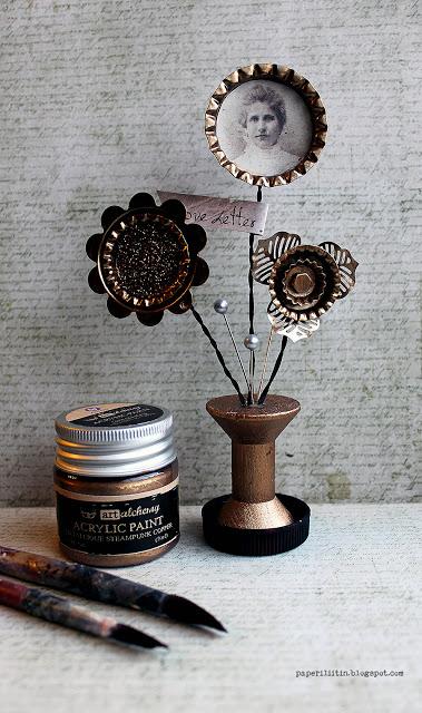 Metallic flower by Riikka