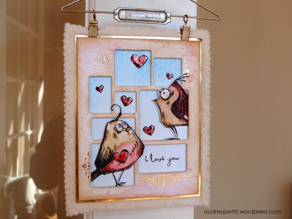 Crazy Bird Canvas By Audrey Pettit