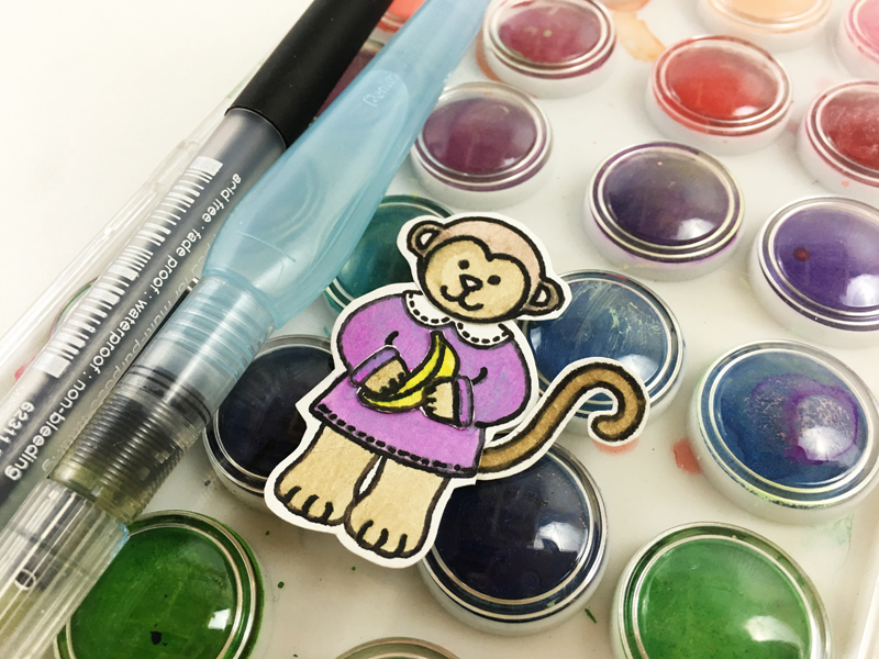 3 ways to color stamped images by @jbckadams for @scrapbookexpo using @sunnystudiostamps