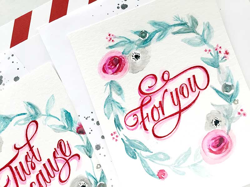 Calligraphy Cards - For You1