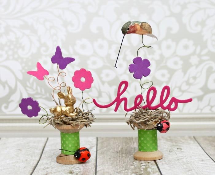 Miniature Spool Vignettes by Morena Hockley