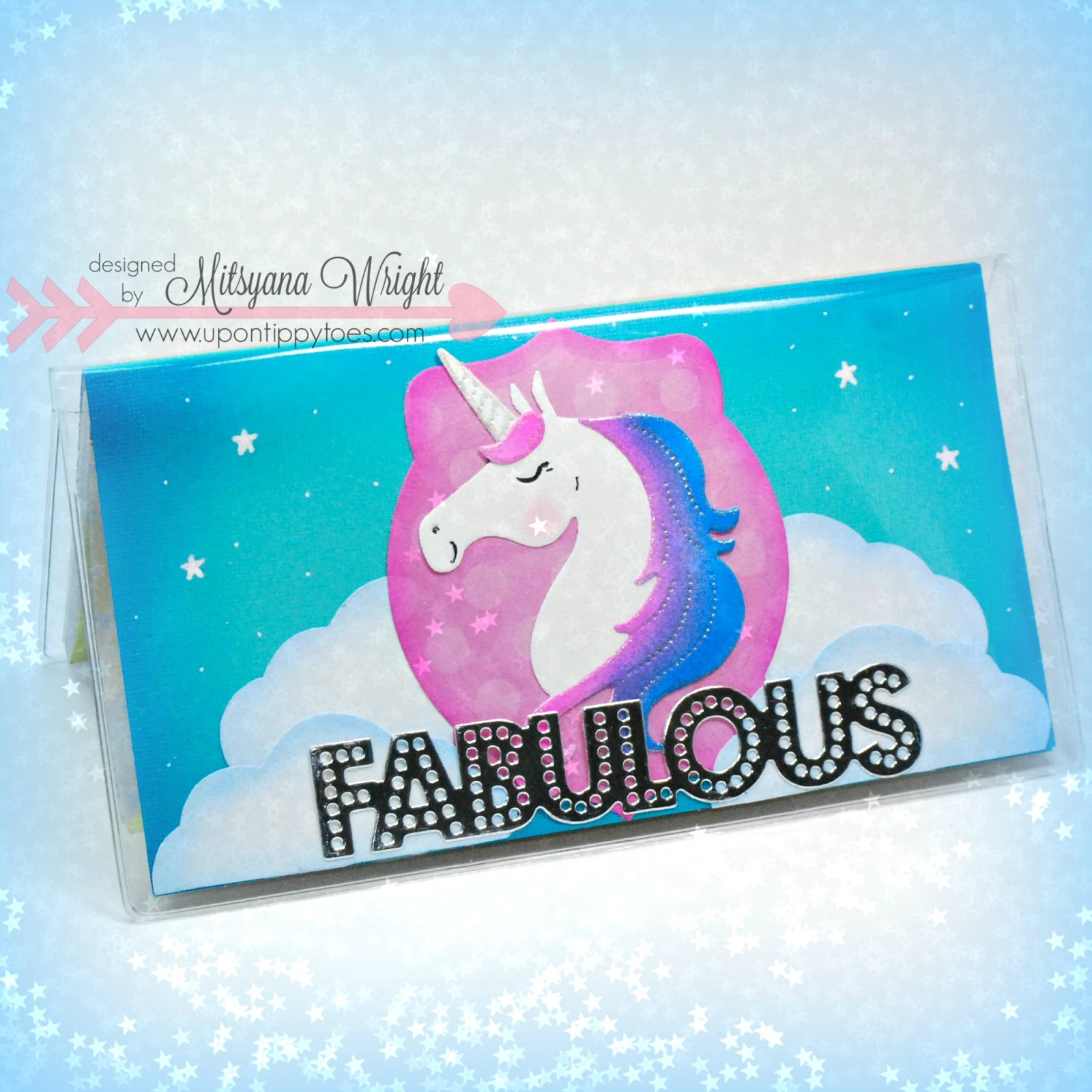 Unicorn Checkbook Cover by Mitsyana Wright