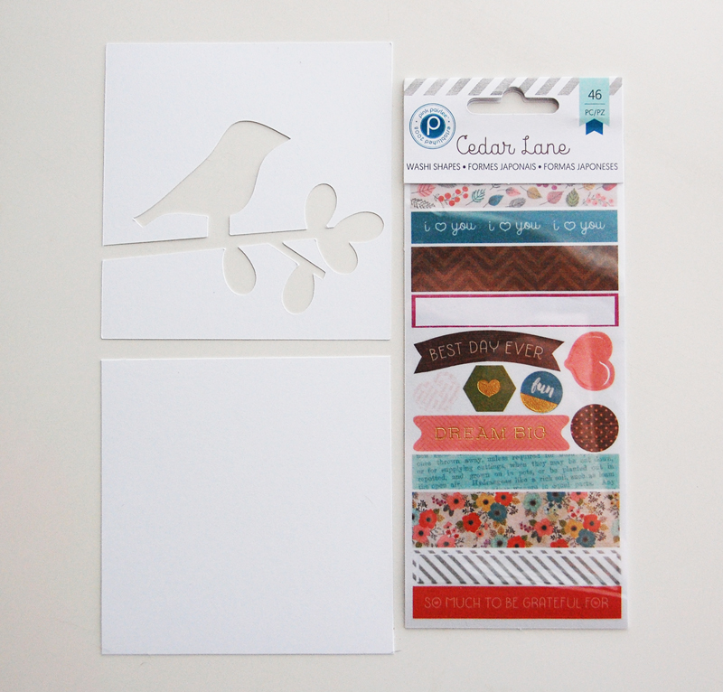 roree rumph_patchwork_washi tape_silhouette_card_step1