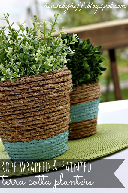 Rope Wrapped Terra Cotta Pots