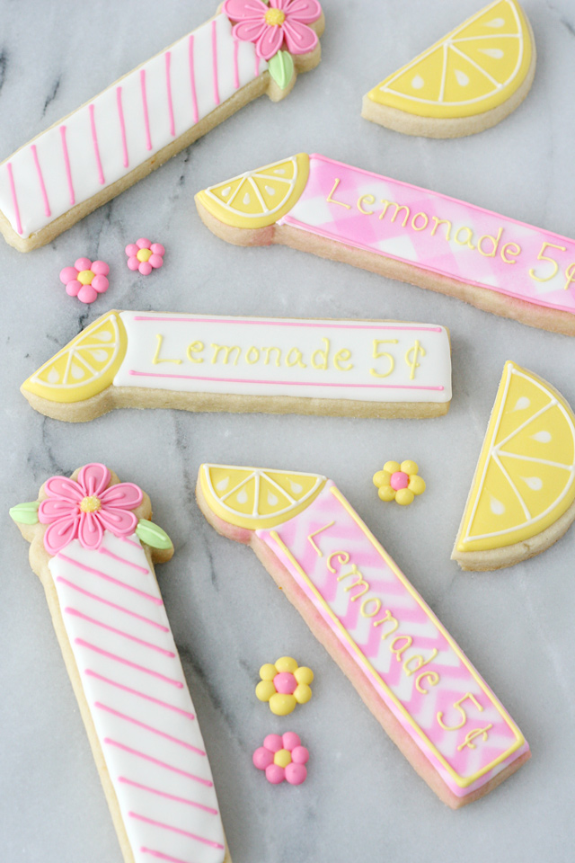 Lemonade Cookie Sticks
