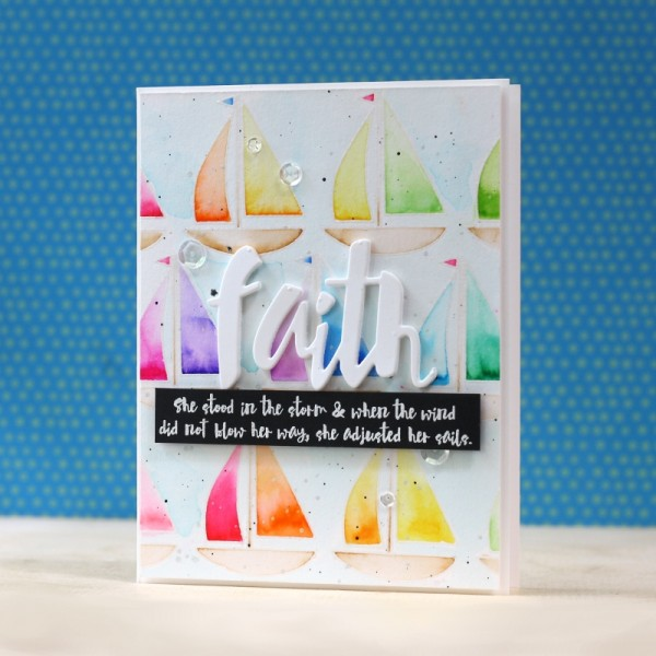 Faith In the Storm Nautical Rainbow Watercoloring