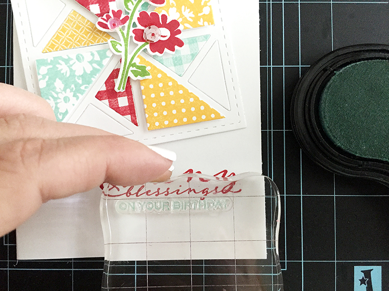 Many Blessings - stamping