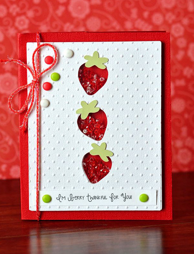 Strawberry Card by Queen & Co.