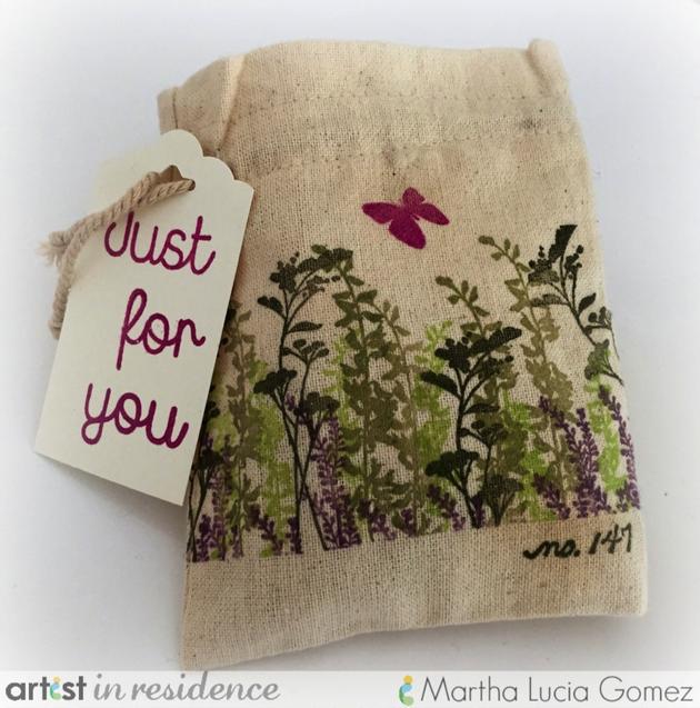 Muslin Stamped Bag