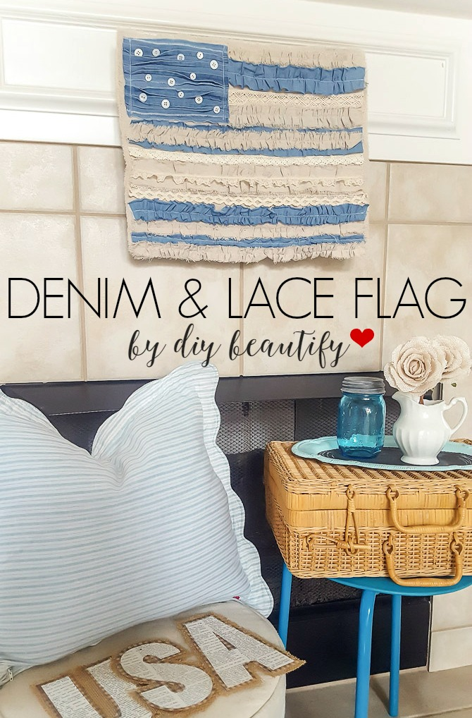 Denim Lace Flag
