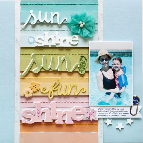 Fun In The Sun Layout By Stacy Cohen