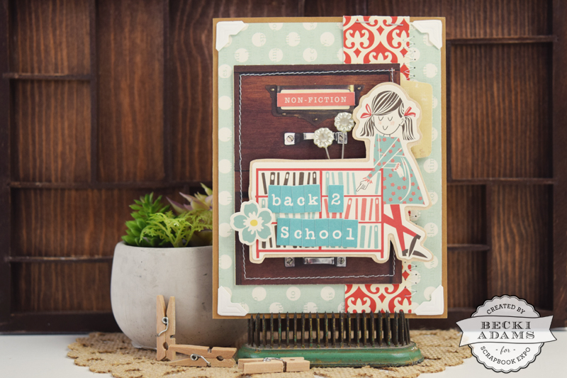 Back to school card by @jbckadams for @scrapbookexpo #octoberafternoon #cardmaking #papercrafting #backtoschool