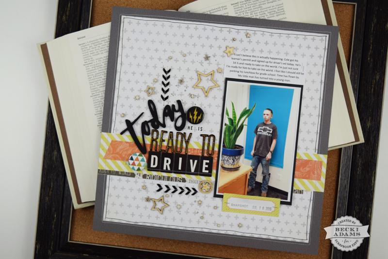 Teenage Boy Layout by @jbckadams for @scrapbookexpo