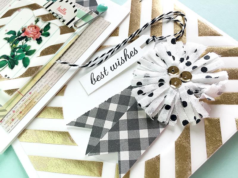 Vellum frame - Best Wishes card1