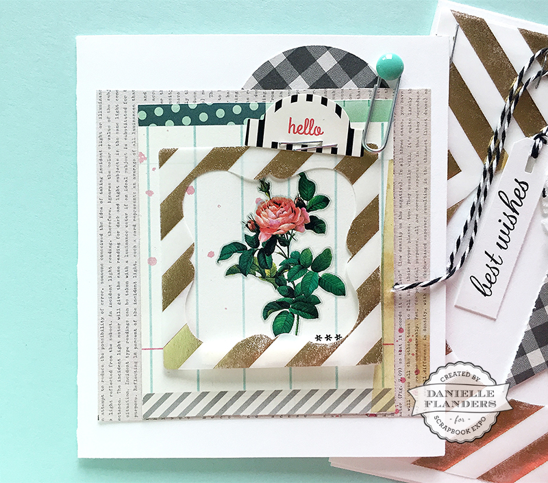 vellum frame - hello card with sig