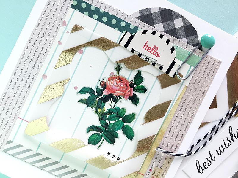 vellum frame - hello card3