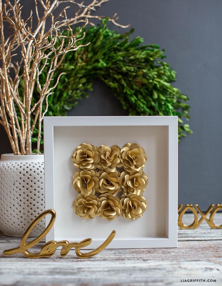 Gold Mini Paper Rose