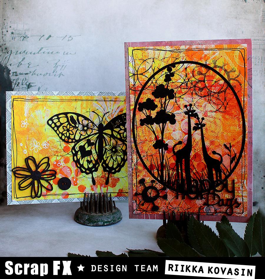 Animal silhouette cards