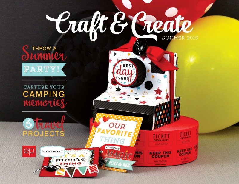 "Echo Park's FREE ""2016 Summer Craft & Create"" Idea Book"