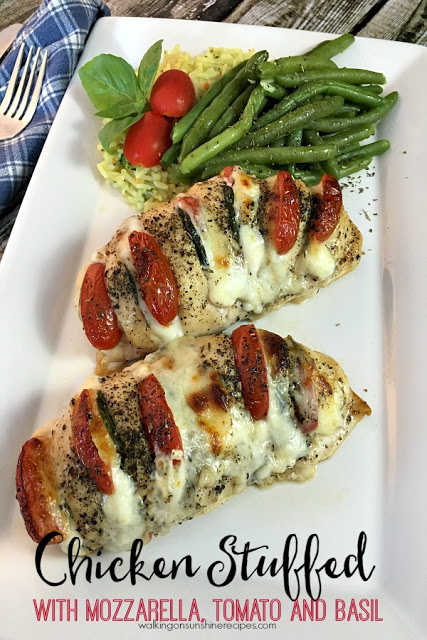 HASSELBACK CHICKEN STUFFED WITH MOZZARELLA, TOMATO AND BASIL RECIPE