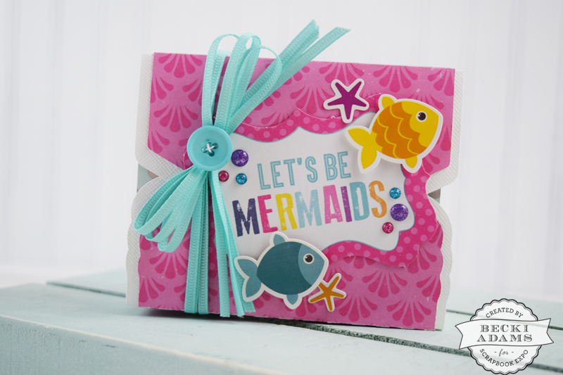 Mermaid Party Favor created by @jbckadams for @scrapbookexpo using products from @echoparkpaper