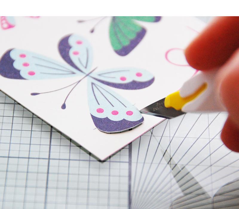 roree rumph_fussy cut_butterflies card_step4