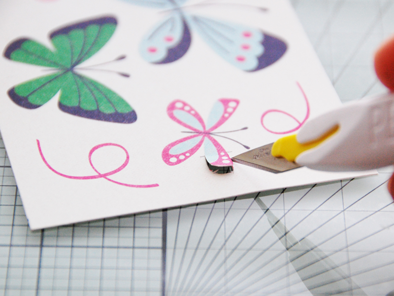 roree rumph_fussy cut_butterflies card_step5