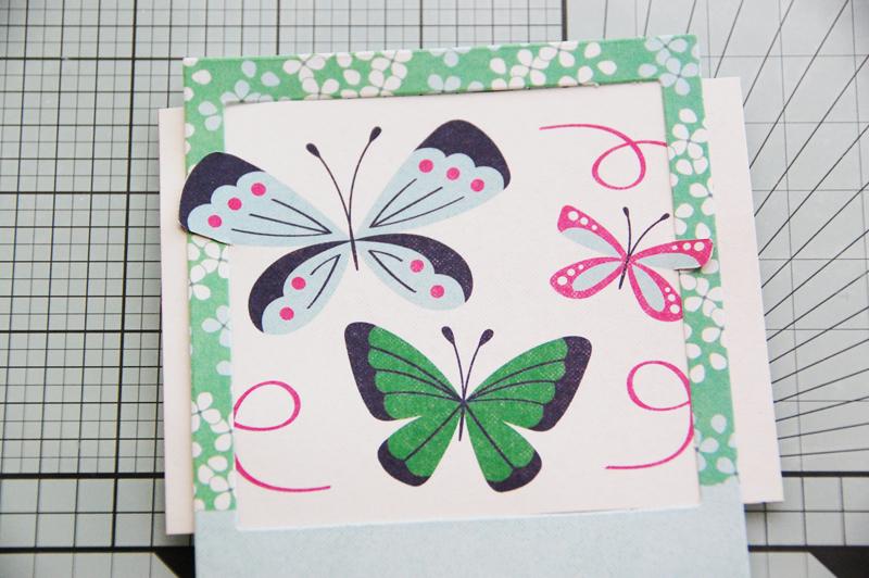 roree rumph_fussy cut_butterflies card_step6