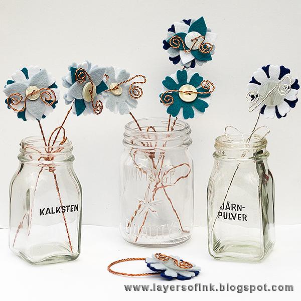 Wire & Felt Flowers