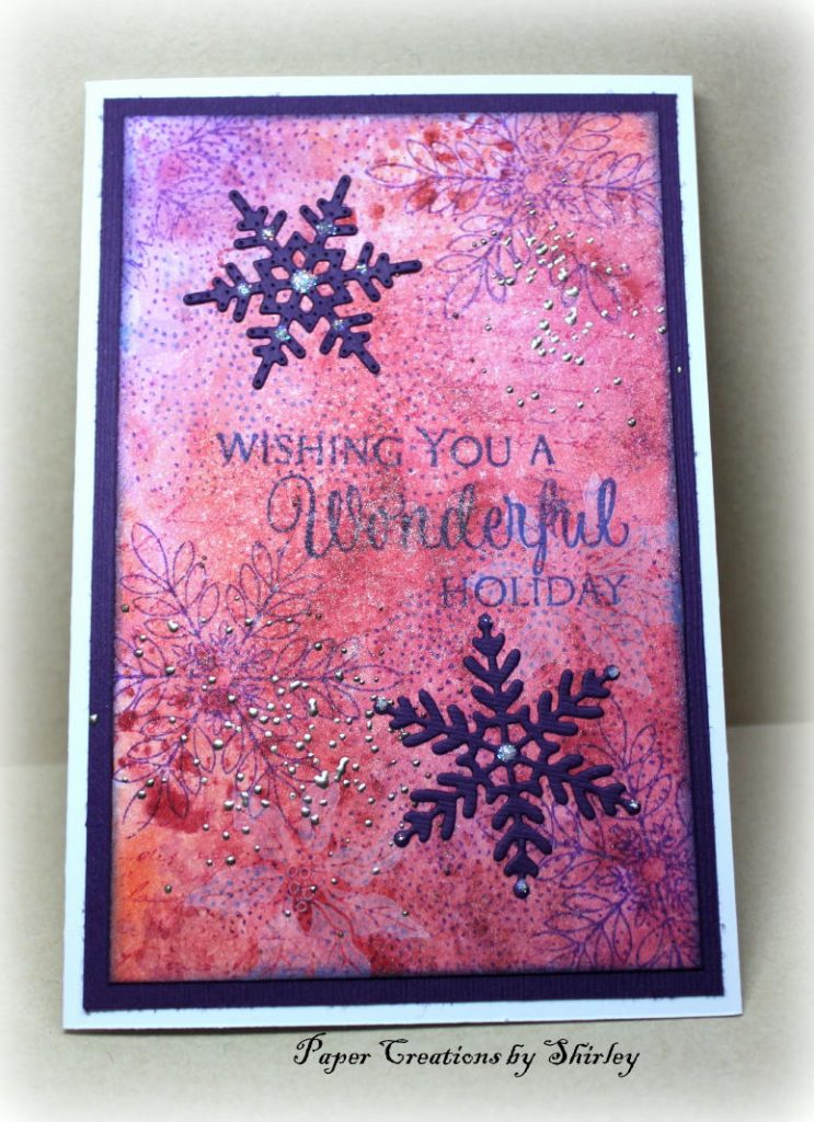 Holiday card by Shirley