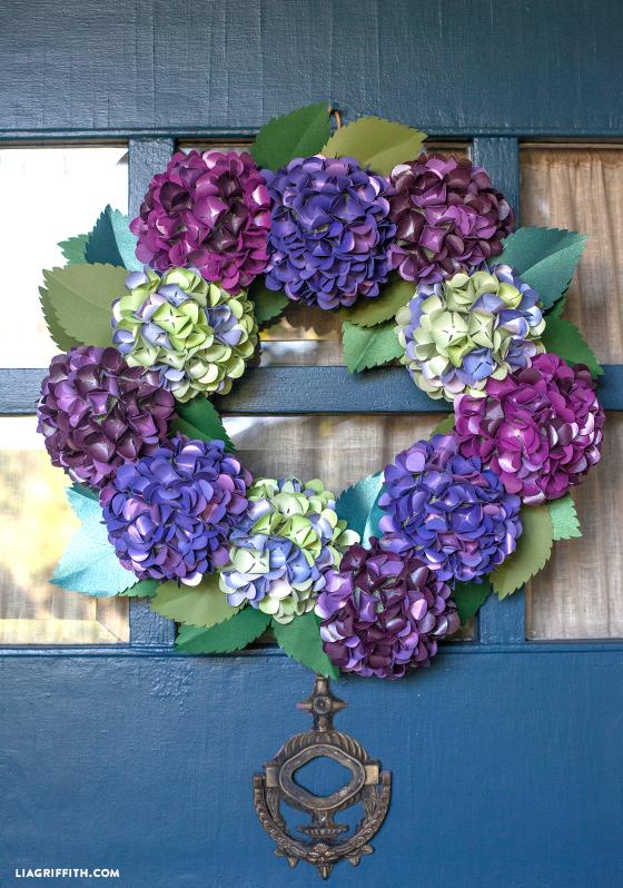 Paper HydraPngea Wreath