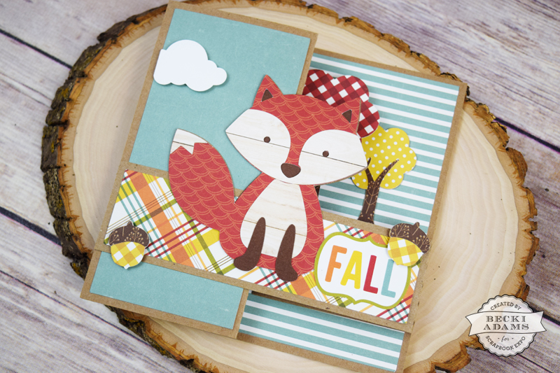 Fall Pop up card by @jbckadams for @scrapbookexpo using products from @echoparkpaper #papercrafting #cardmaking #echoparkpaper #scrapbookexpo