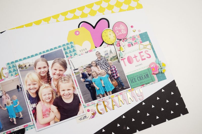 Double Page Multi Photo Layout by @jbckadams for @scrapbookexpo using products from @cratepaper #scrapbooking #doublepagelayout #stampandscrapbookexpo #cratepaper