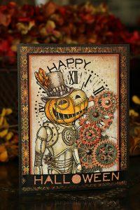 Steampunk Pumpkin Card