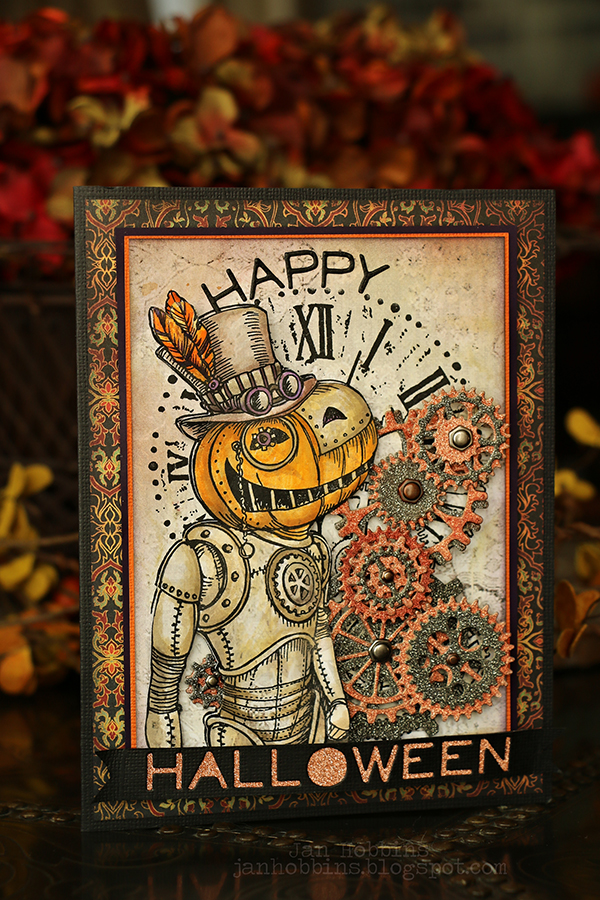 Steampunk Pumpkin Card