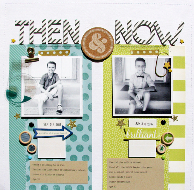 SCRAPBOOKING BACK TO SCHOOL WITH COMPARISON PHOTOS