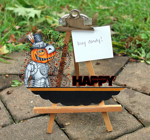 Halloween Themed Clear Clipboard By Wendy Price