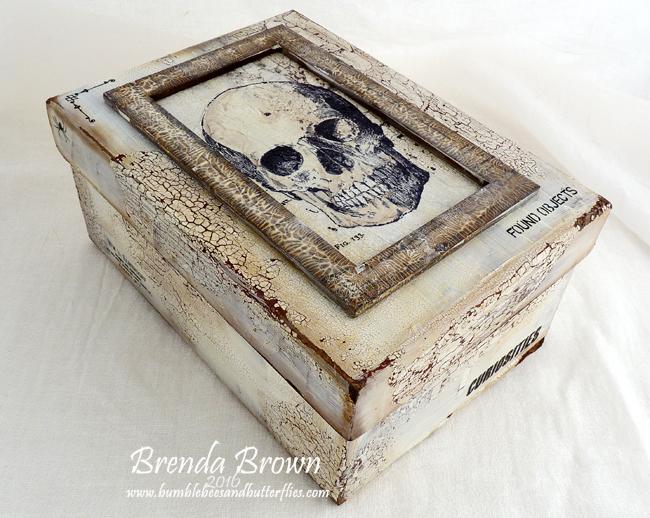 Shabby Halloween Altered Box