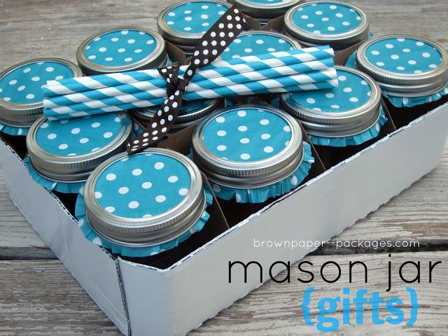 Mason Jar Drinking Glass Gift Set