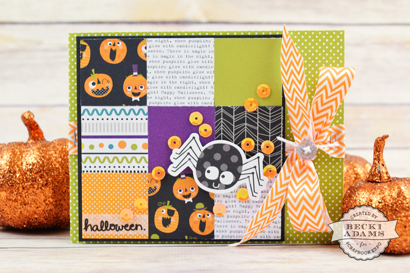 Halloween Card created by @jbckadams for @scrapbookexpo #Halloween #cardmaking #Bellablvd