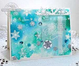 Dreaming Of A White Christmas Card By Christine