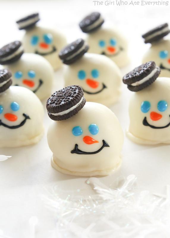 Snowman Oreo Balls