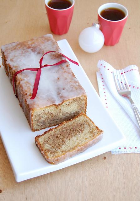 Gingerbread Almond Loaf Cake