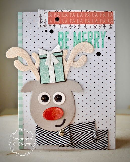 Be Merry card by Savannah O'Gwynn