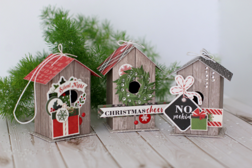 Birdhouse Christmas Tree Ornaments by Anya Lunchenko