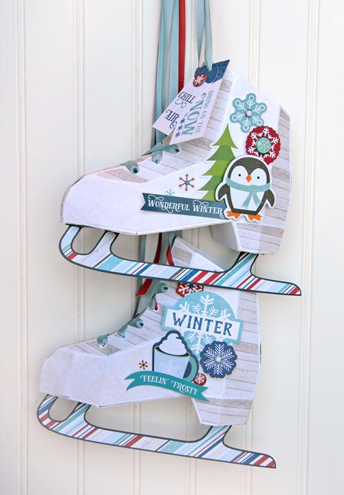 Paper Ice Skates project by Jana Eubank