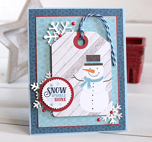 Snowman card by Kimberly Crawford