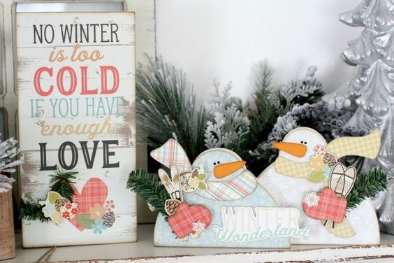 Chilly Winter Wood Decor